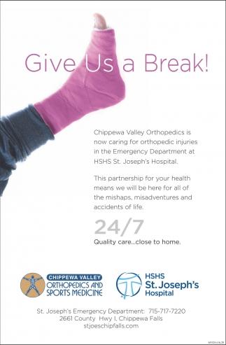 Orthopedic Injuries, Chippewa Valley Orthopedics and Sports