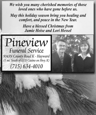Have a blesed Christmas from Jamie Heise and Lori Hessel