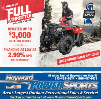 Polaris Full Throttle Sales Event