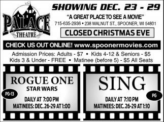 SHOWING DEC. 23 - 29