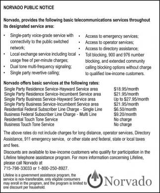Norvado Public Notice