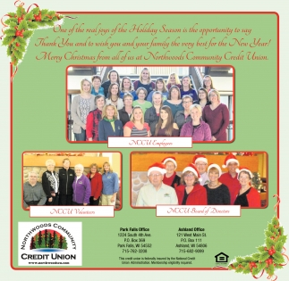 Merry Christmas from all of us at Northwoods Community Credit Union