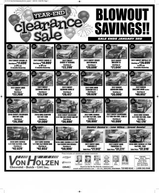 Blowout Savings!!