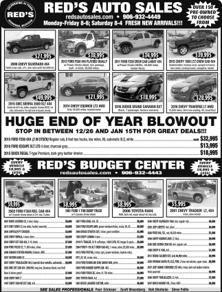 Huge end of year blowout