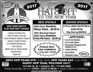 Hats off to the new year