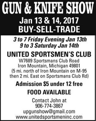 Gun & Knife Show, United Sportsmen's Club, Iron Mountain, MI