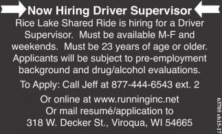 Driver Supervisor