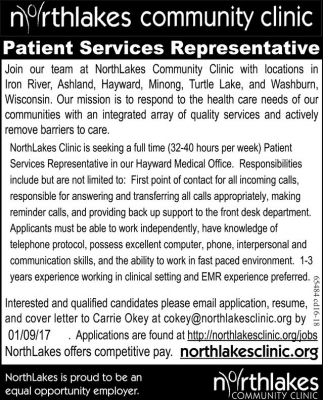 Patient Services Representative
