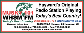 Hayward's Original Radio Station Playing Today's Best Country!