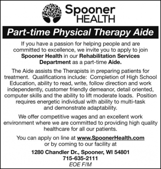 Part-time Physical Therapy Aide