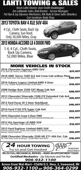 Toyota, Honda, vehicles...
