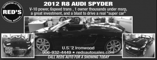 2012 R8 Audi Spyder