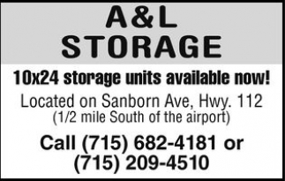 10x24 storage units available now!