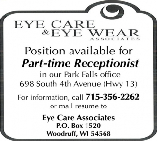Part-Time Receptionist