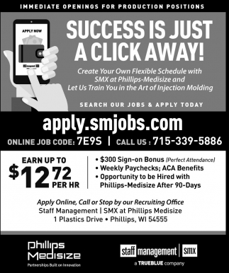 Success is just a click away!