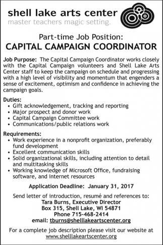 Capital Campaign Coordinator