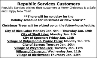 Merry Christmas and a safe and Happy New Year!, Republic Services ...