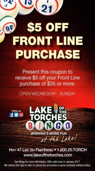 $5 off front line purchase