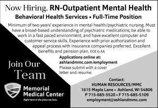 RN Outpatient Mental Health