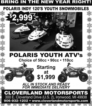 Polaris youth ATV's