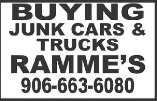Buying junk cars & trucks