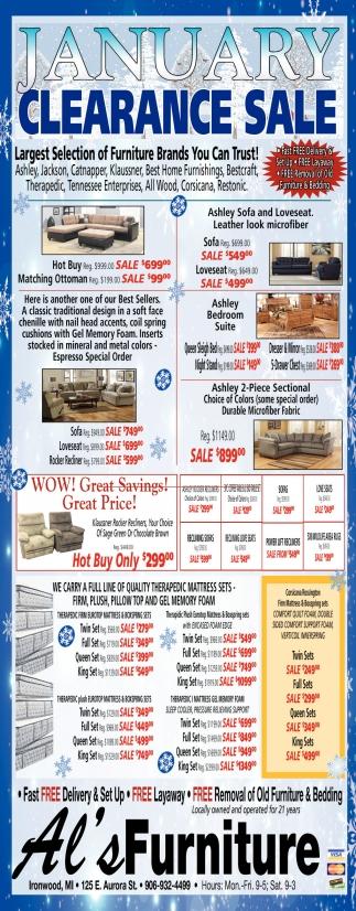 January Clearance Sale