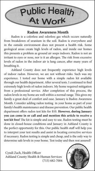 Radon Awareness Month