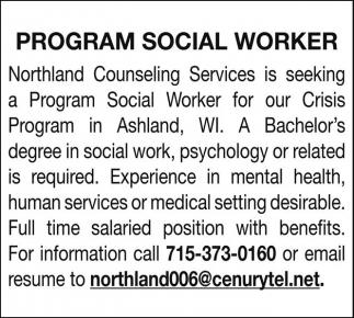 Program Social Worker