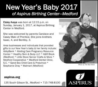 New Year's Baby 2017