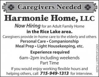 Caregivers Needed