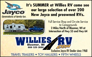New jayco and preowned RVs