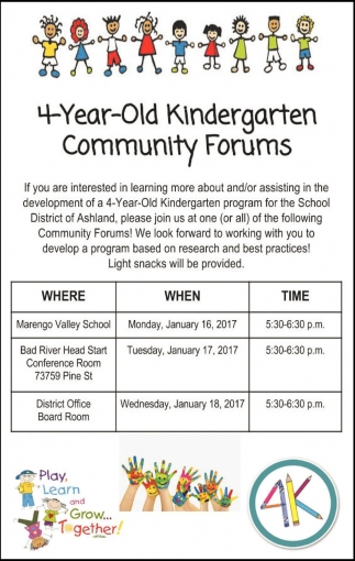 4 Year Old Kindergarten Community Forums