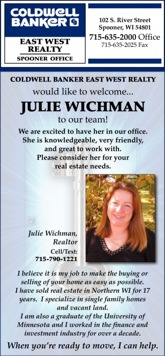 Welcome Julie Wichman