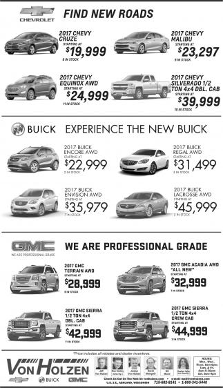 Chevrolet, Buick, GMC