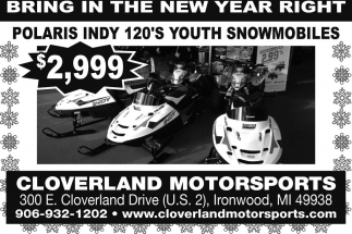 Polaris Indy 120's youth snowmobiles