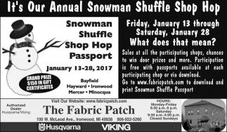 It's Our Annual Snowman Shuffle Shop Hop