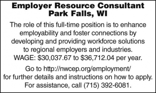 Employer Rersource Consultant