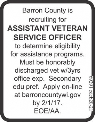 Assistant Veteran Service Officer