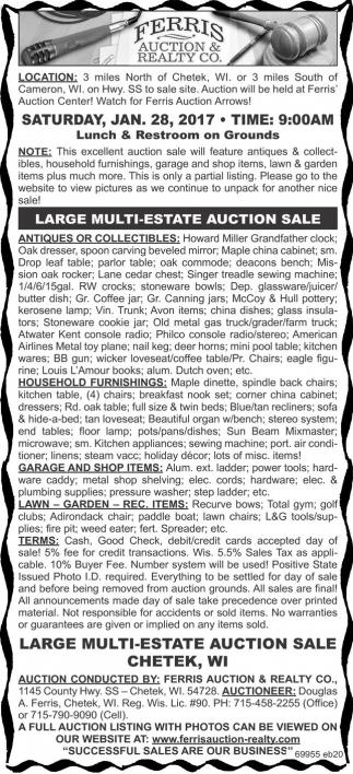 Large Multi-Estate Auction Sale