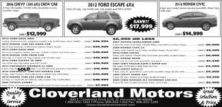 Chevy, Ford, Honda