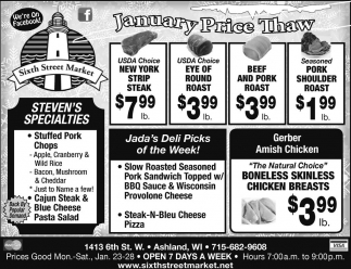 January Price Thaw