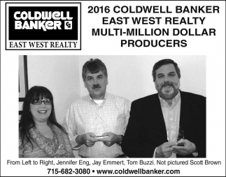 2016 Coldwell Banker East West Realty Multi-Million Dollar Producers
