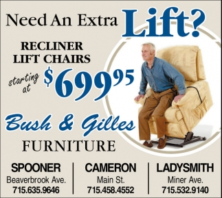 Recliner Lift Chairs $699,95