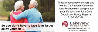 Learn about free seminars and how LMC's Regional Center for Joint Replacement