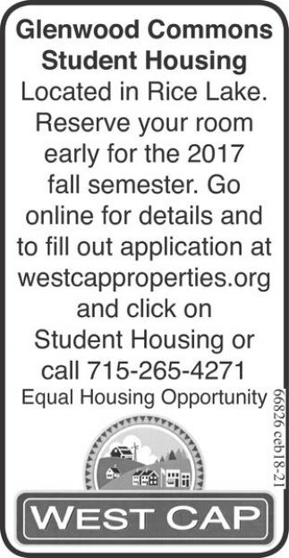 Glenwood Commons Student Housing
