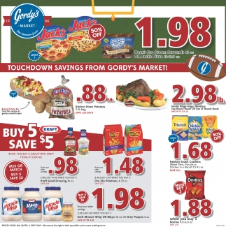 Touchdown savings from Gordy's Market