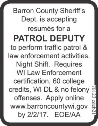 Patrol Deputy