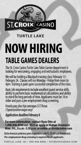 Table Games Dealer