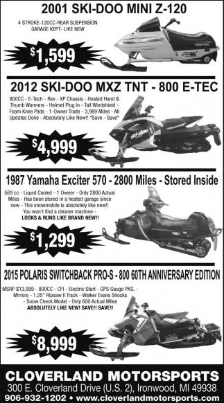 SkiDoo, Yamaha, Polaris