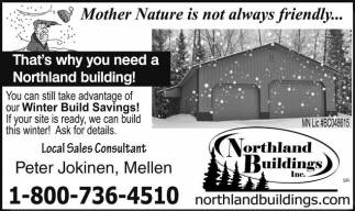 Winter Build Savings